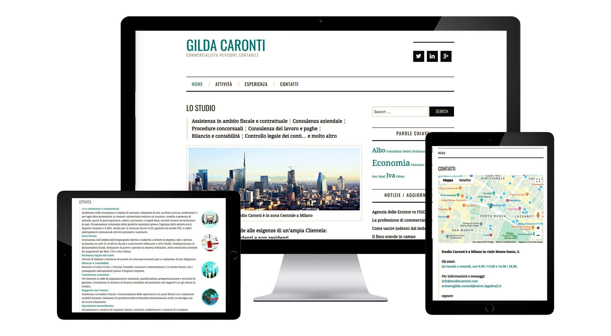 Business Consultant website shown on desktop and mobile devices