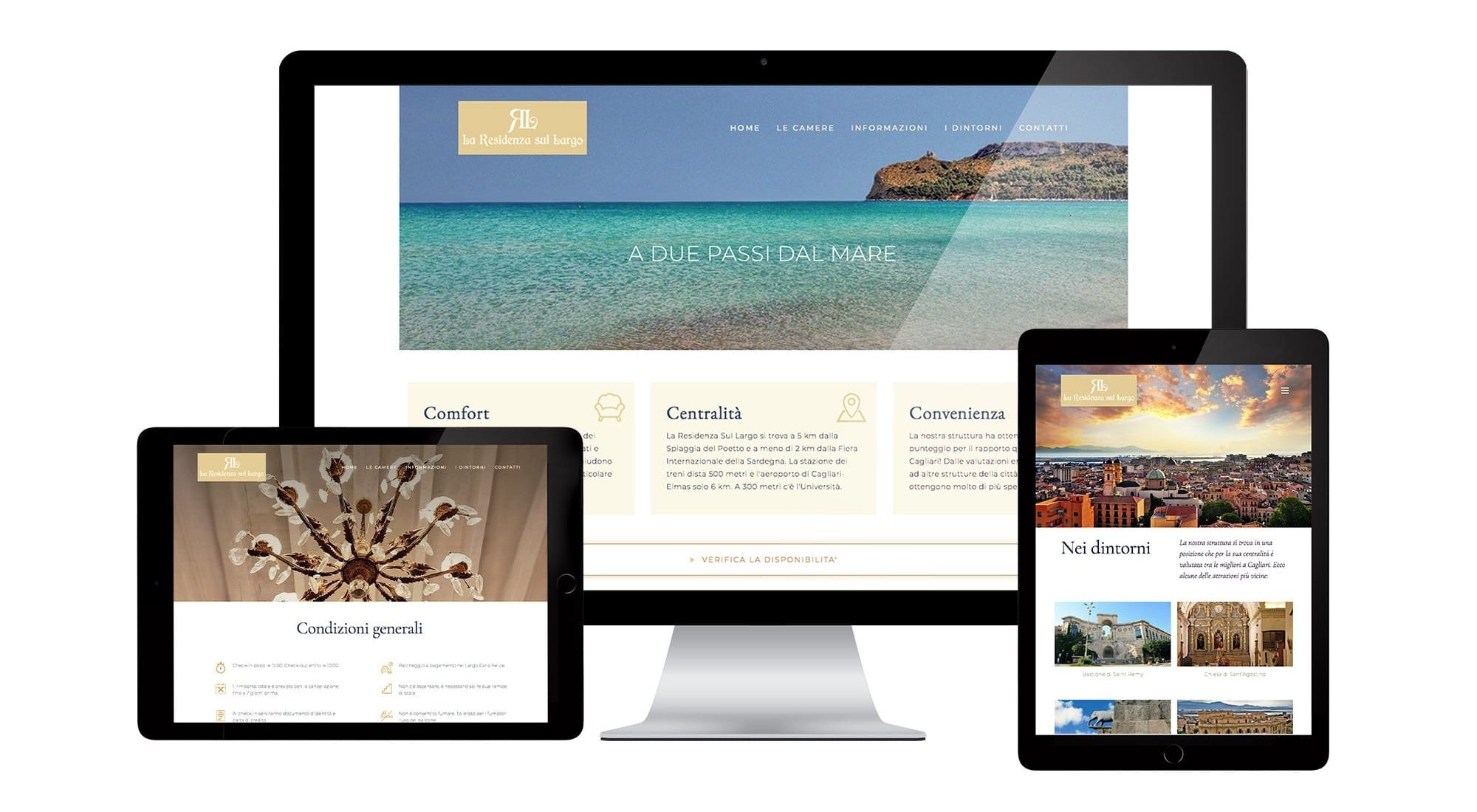 La Residenza Sul Largo website shown on desktop and mobile devices