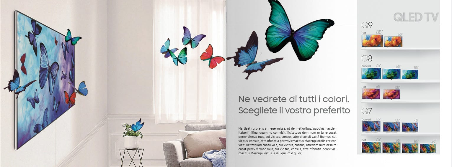 Samsung QLed Tv Catalog Double Page 4