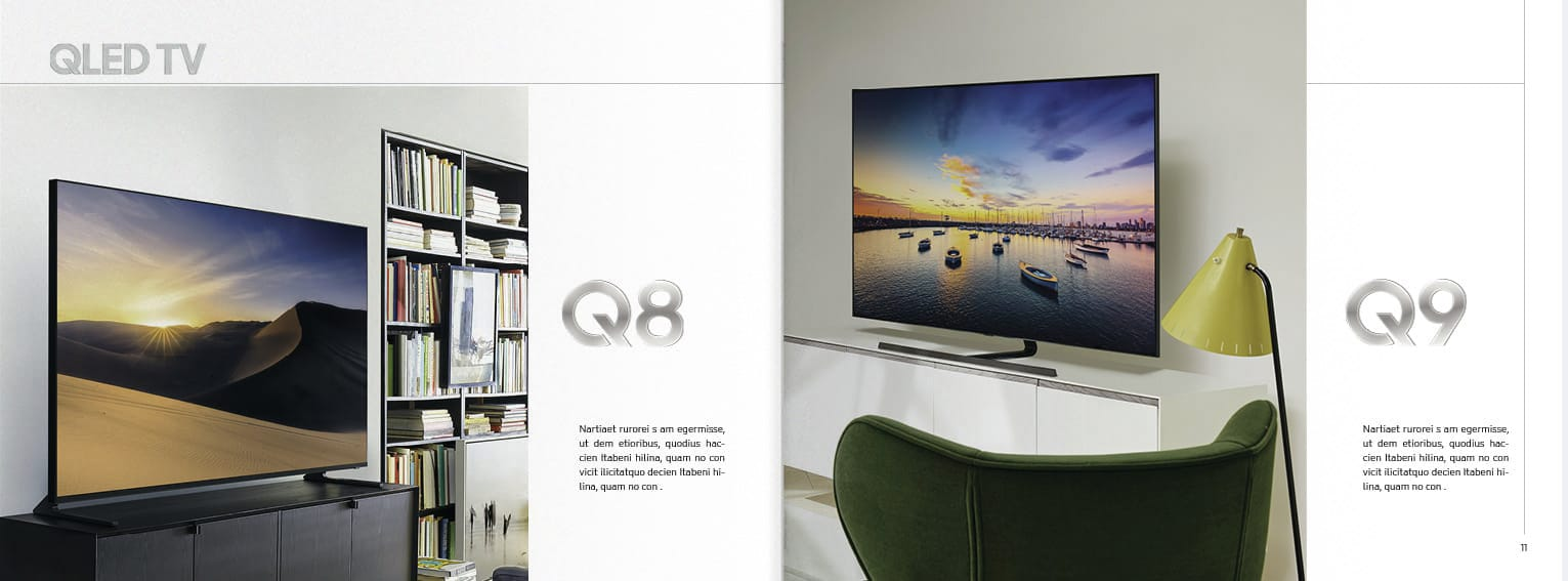 Samsung QLed Tv Catalog Double Page 6